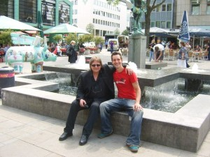 Bruce and me in the city center of Dortmund - the 'Old Market'