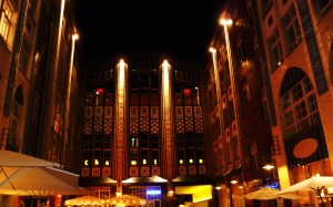 Hackische Höfe by night, Berlin, 2008