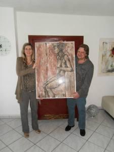 Me and Budapest based Hungarian artist Krisztina Asztalos, Herdecke, Sept. 2014