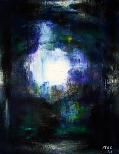 """Out Of The Dark II"", acrylic on paper, 50 x 64 cm (25.2 H x 19.7 W inches), Herdecke, Germany, 2012"
